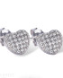 Real Effect Heart Earrings