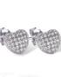 Real Effect Heart Earrings