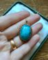 Elegant Vintage Russian Turquoise Pendant